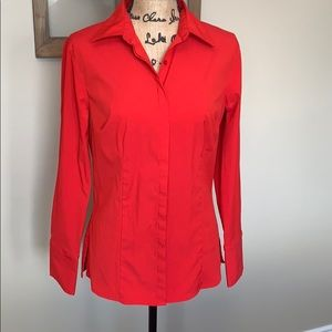 Vibrant Red Express Button down